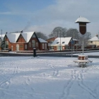 School in Snow